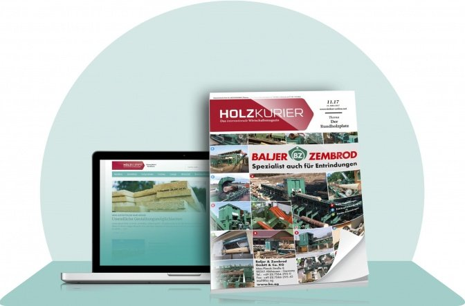Holzkurier Classic International-Print