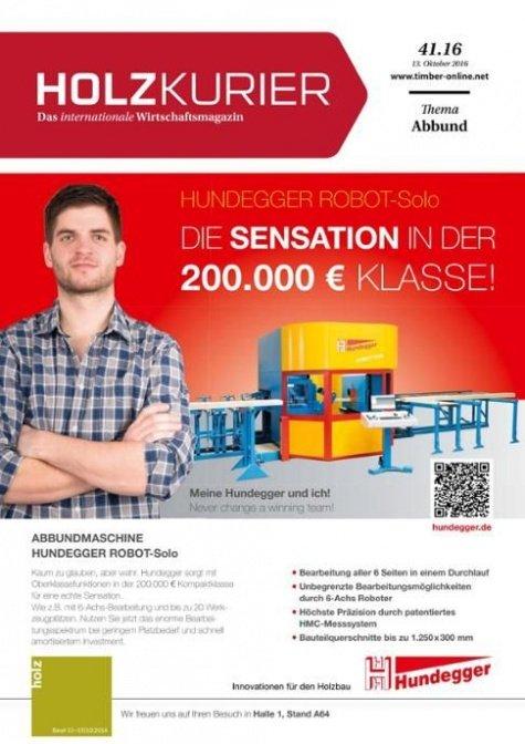 Holzkurier Digital Nr. 41.2016