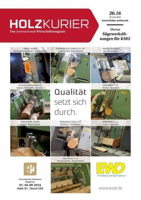 Holzkurier Digital Nr. 26.2016