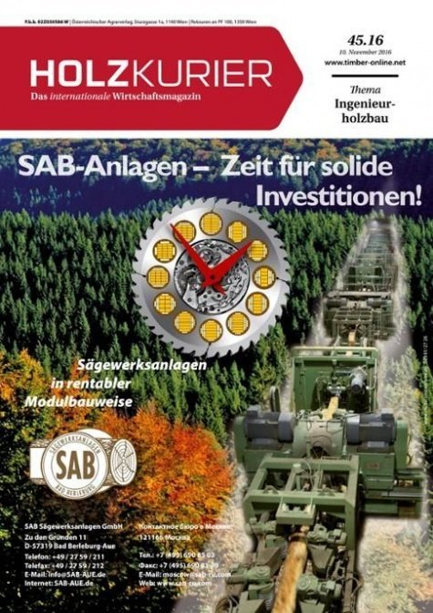 Holzkurier Digital Nr. 45.2016