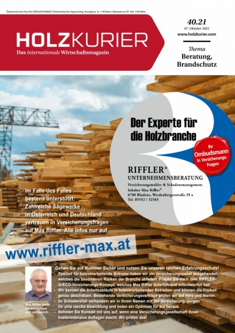 Holzkurier Digital Nr. 40.2021
