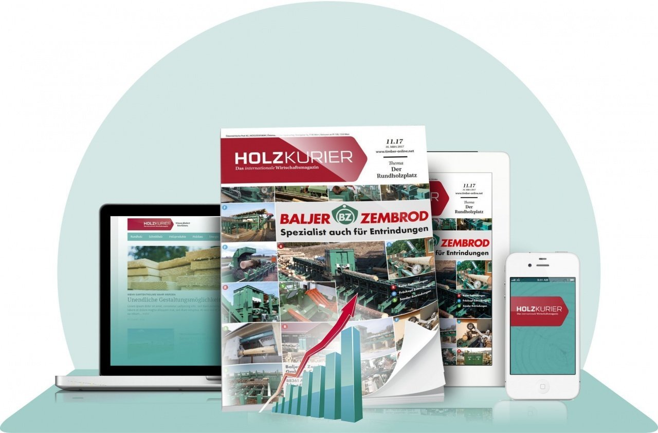 Holzkurier Performance - Holzkurier-Online + Print-Abonnement + Datenvisualisierung Datafox