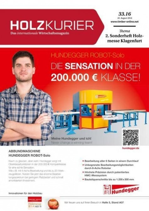 Holzkurier Digital Nr. 33.2016