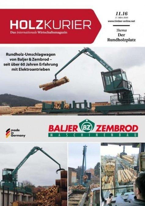Holzkurier Digital Nr. 11.2016