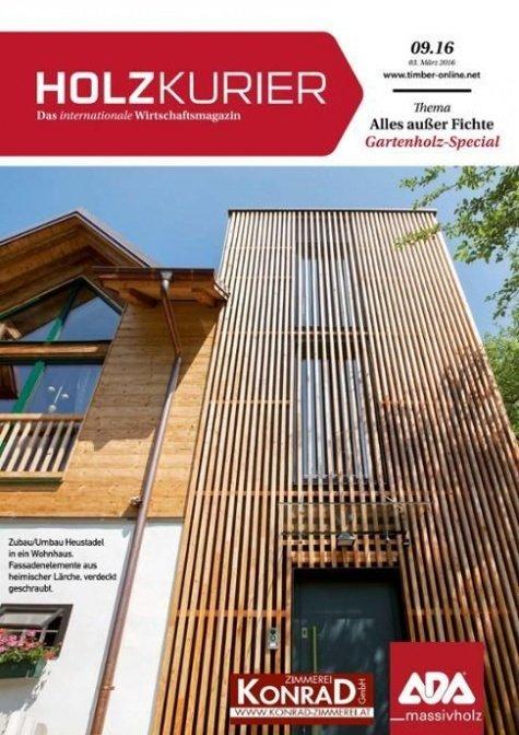 Holzkurier Digital Nr. 9.2016